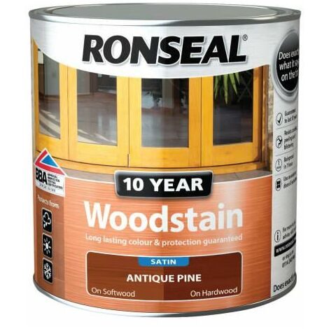 Ronseal 38676 10 Year Woodstain Antique Pine 750ml