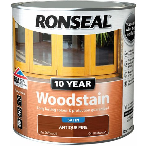 Ronseal 38687 10 Year Woodstain Antique Pine 2.5 Litre