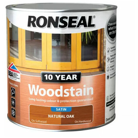 Ronseal 38694 10 Year Woodstain Natural Oak 2.5 Litre