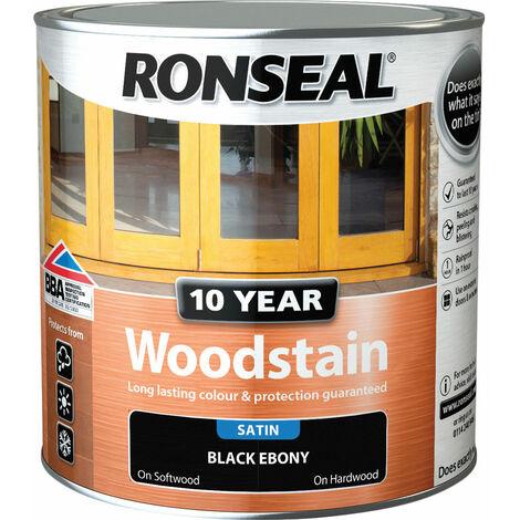 Ronseal 38695 10 Year Woodstain Ebony 2.5 Litre
