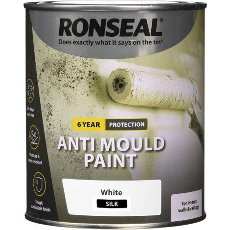Ronseal AMPWS25L Anti Mould Paint White Silk 2.5 Litre