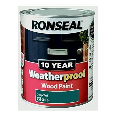 Ronseal ASINOAUK30K Weatherproof Paint, Deep Teal, 750ml