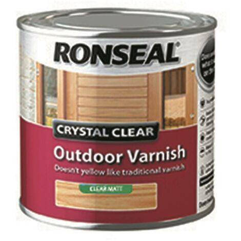 Ronseal CCODVM750 750 ml Crystal Outdoor Matt Finish Varnish - clear