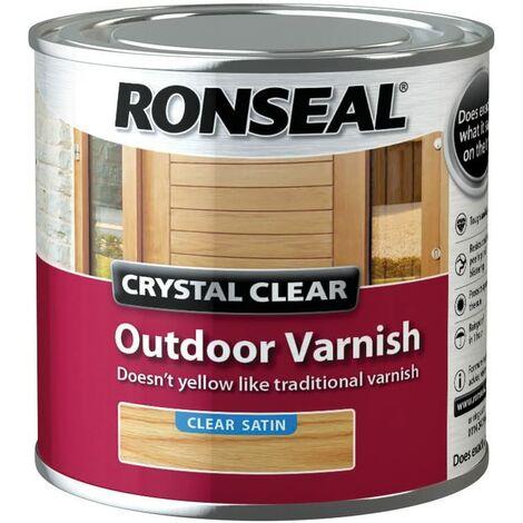 Ronseal CCODVS250 250 ml Crystal Outdoor Satin Finish Varnish - clear