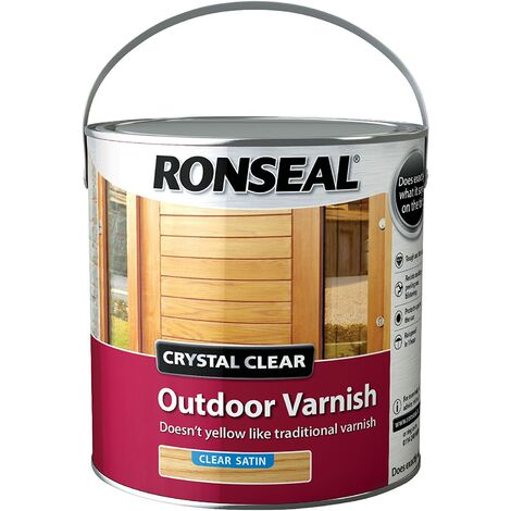 Ronseal CCODVS25L 2.5 Litre Crystal Outdoor Satin Finish Varnish - clear