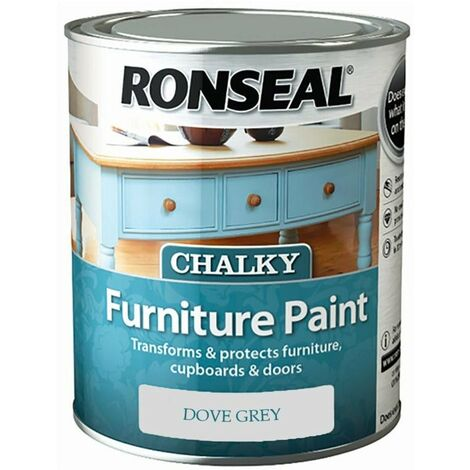 """main image of """"Ronseal - One Coat Chalky Furniture Paint - 750ml - Dove Grey"""""""