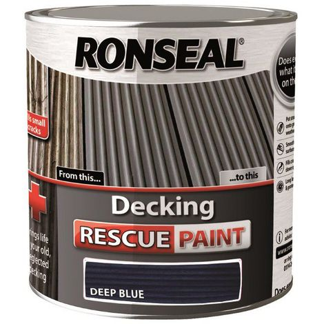 Ronseal Decking Rescue Paint - For New Look Decking - All Sizes - All Colours