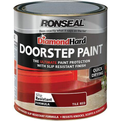 Ronseal DHDSPR250 Diamond Hard Doorstep Paint Red 250ml