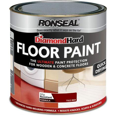 Ronseal Diamond Hard Floor Paint Tile Red 750ml