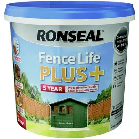 Ronseal Fencelife Plus 5L Forest Green