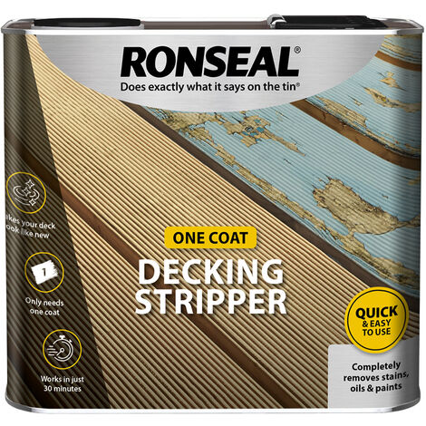 Ronseal Garden Decking Stripper - Removes Stains and Oils - 2.5 Litre