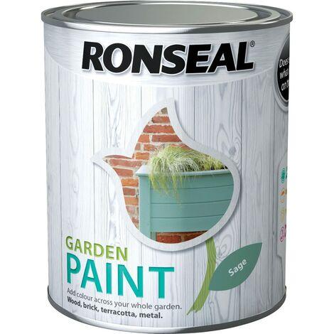 "main image of ""Ronseal Garden Paint Sage 250ml"""