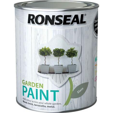 "main image of ""Ronseal Garden Paint Slate 750ml"""