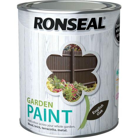 Ronseal General Purpose Garden Paint English Oak 750ml