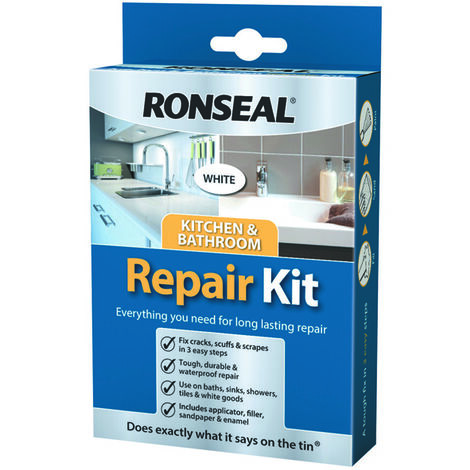 Ronseal Kitchen and Bathroom Repair Kit - Cracks, Scrapes and Scruffs Repaired