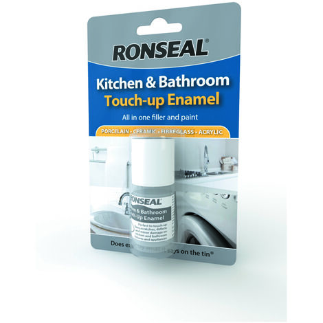 Ronseal Kitchen and Bathroom Sink, Bath, Appliances Touch-Up Enamel - White