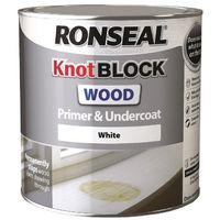 Ronseal Knot Block Primer & Undercoat White 2.5L