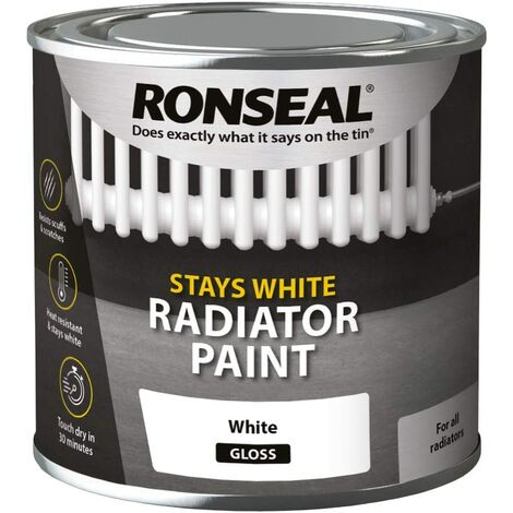 Ronseal OCRPWS250 One Coat Radiator Paint White Satin 250ml