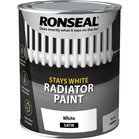 Ronseal OCRPWS750 One Coat Radiator Paint White Satin 750ml