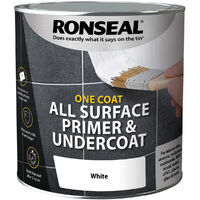 Ronseal One Coat All Surface Primer and Undercoat - White - 2.5 Litre