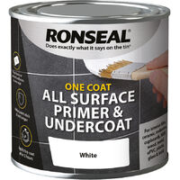 Ronseal One Coat All Surface Primer and Undercoat - White - 250ml