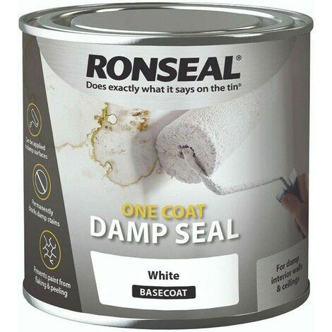 Ronseal One Coat Anti Damp Paint - White