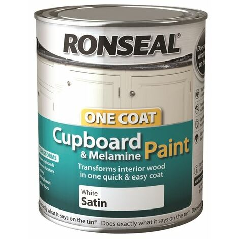Ronseal One Coat Cupboard Melamine and MDF Paint - All Colours - 750ml