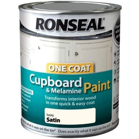 """main image of """"Ronseal One Coat Cupboard Melamine & MDF Paint Ivory Satin 750 ml"""""""
