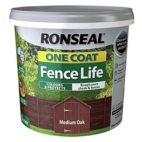 Ronseal One Coat Fence Life Medium Oak 5 Litre