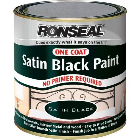 Ronseal One Coat Paint Satin Black 250ml