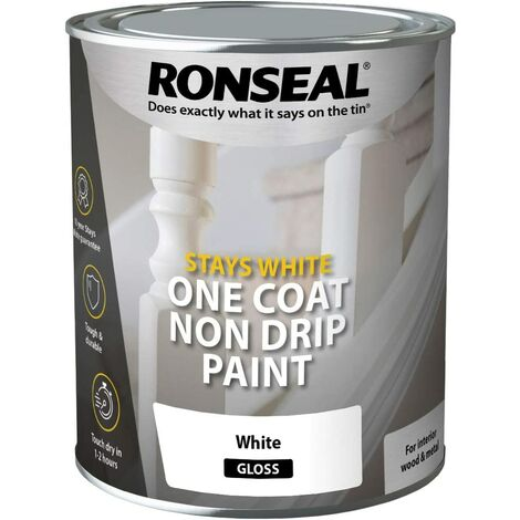 Ronseal One Coat Stays White Gloss 2.5L