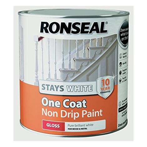 Ronseal One Coat Stays White - Gloss - 2.5l