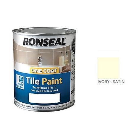 Ronseal One Coat Tile Paint - All Colours - 750ml