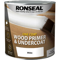 Ronseal One Coat Wood Primer and Undercoat - White - 2.5 Litre