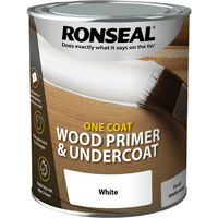 Ronseal One Coat Wood Primer and Undercoat - White - 750ml