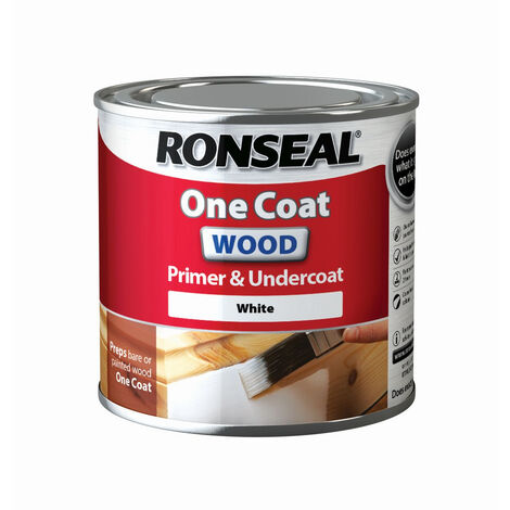 Ronseal One Coat Wood Primer and Undercoat - White - All Sizes