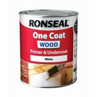 Ronseal One Coat Wood Primer & Undercoat White 750ml