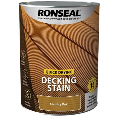 Ronseal Quick Drying Decking Stain Country Oak 5 litre