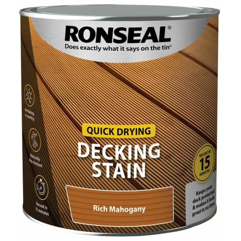 Ronseal Quick Drying Decking Stain Rich Mahogany 2.5 litre
