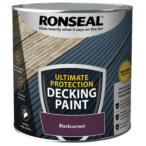 """main image of """"Ronseal RSLDPBC25L Ultimate Protection Decking Paint Blackcurrant 2.5 litre"""""""