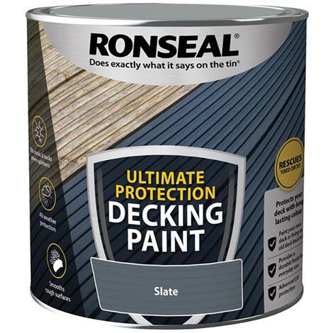 """main image of """"Ronseal RSLDPSL25L Ultimate Protection Decking Paint Slate 2.5 litre"""""""