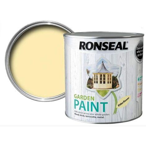 Ronseal RSLGPEF250 GPEF250 Garden Paint Elderflower 250ml, 250 ml
