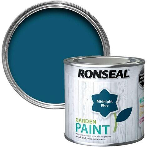 Ronseal RSLGPMB750 GPMB750 Garden Paint Midnight Blue 750ml, 750 ml