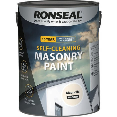 Ronseal Self-cleaning Masonry Paint - Magnolia - 5l