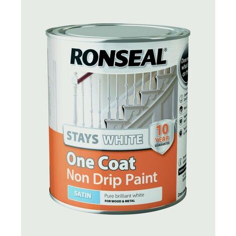 """main image of """"Ronseal One Coat Stays White Gloss Paint 750ml"""""""
