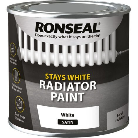 Ronseal Stays White Radiator Paint - White - 750ml and 250ml
