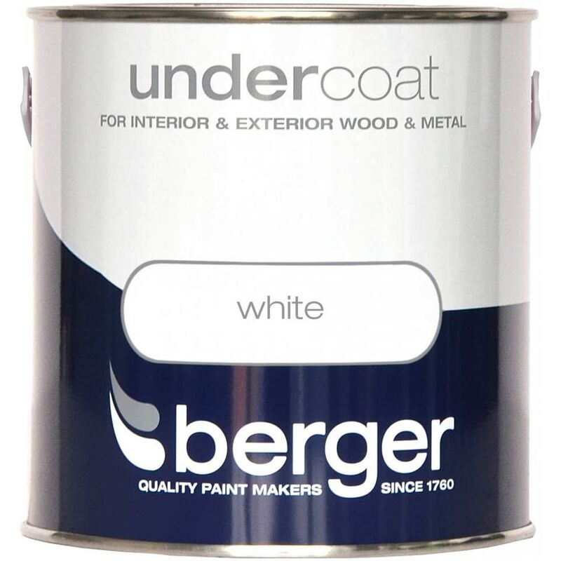 Image of 2.5l Undercoat - Pure Brilliant White White 2.5L - Berger