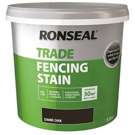 Ronseal Trade Fencing Stain - Dark Oak 5L