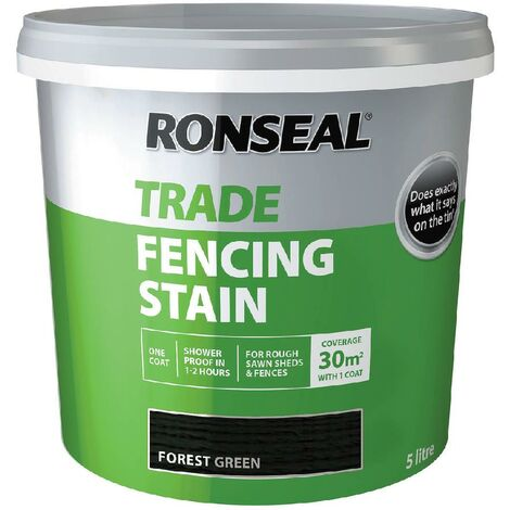 Ronseal Trade Fencing Stain - Forest Green - 5L