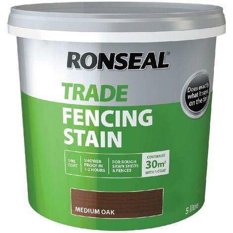 Ronseal Trade Fencing Stain - Medium Oak - 5L